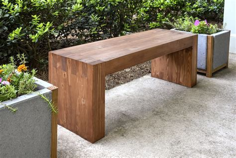 homemade wood bench ana white williams sonoma inspired outdoor bench