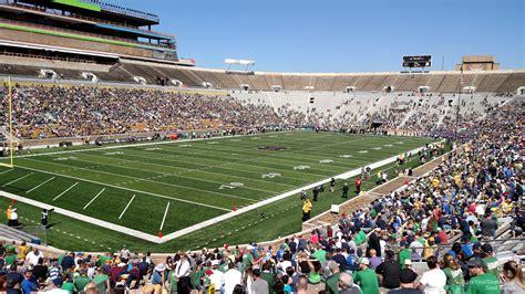 notre dame stadium sections notre dame stadium section 16 rateyourseats com