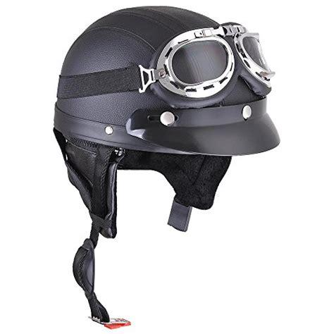 Open Retro Cycling Motorcycle Skull Helmet yescom retro vintage motorcycle scooter bike harley half helmet open goggles visor scarf