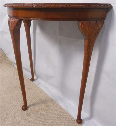 Yew Wood Console Table Yew Wood Console Table With Bowfront