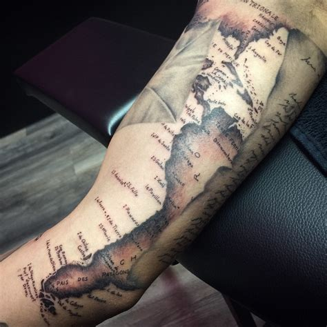 nautical map tattoo map tattoos designs ideas and meaning tattoos for you