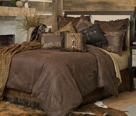 leather comforter gold rush by carstens lodge bedding beddingsuperstore com