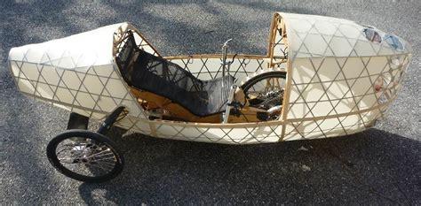 wood fabric velomobile wooden bike recumbent bike