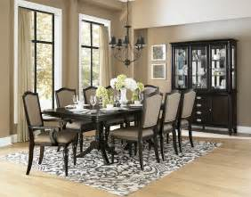 dining rooms sets homelegance marston double pedestal dining table in dark