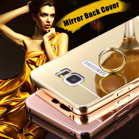 Samsung Galaxy Note4 Metal Bumper Slide Mirror Back luxury shiny plating aluminum bumper metal aluminum acrylic mirror for samsung galaxy