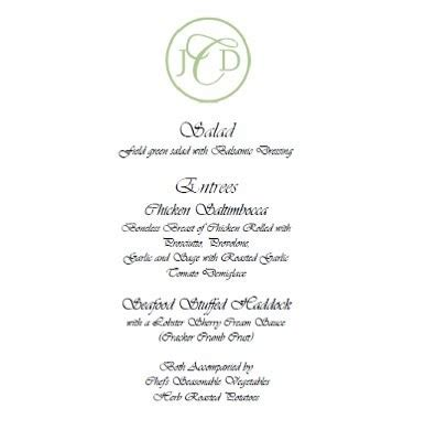 menu layout for wedding menu sle layout weddings wedding forums weddingwire