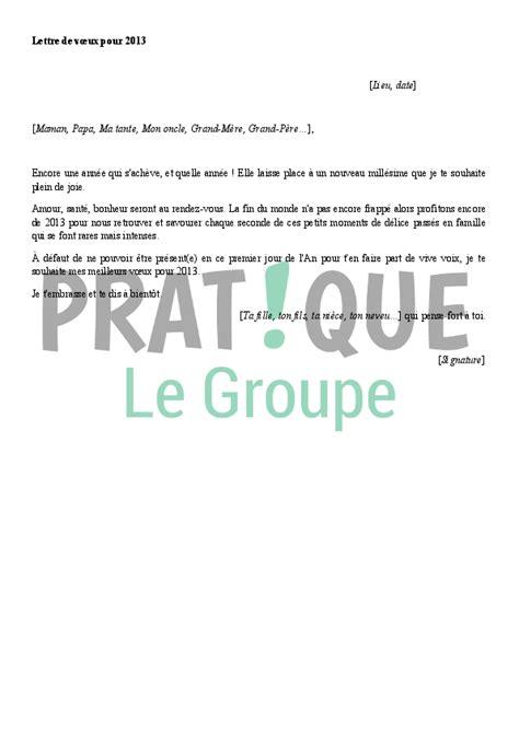 Modèle De Lettre Pour Voeux Nouvel An Lettre De Voeux Pour L 233 E 2013 224 Un Membre De La Famille Pratique Fr