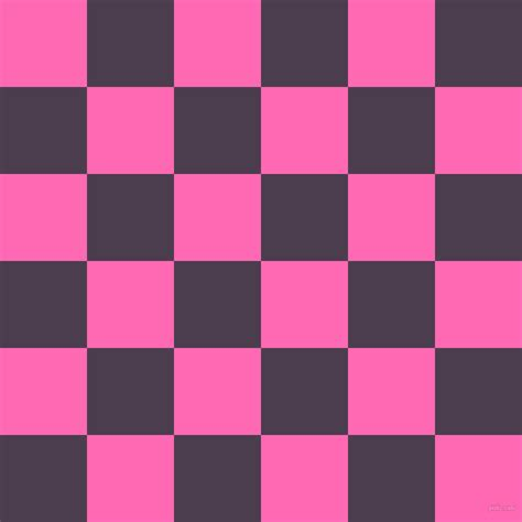 Floor Colors hot pink and bossanova checkers chequered checkered