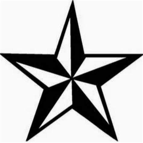 black army star tattoo design stencil idea for men