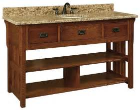 60 quot lancaster mission open single bathroom vanity cabinet with slats