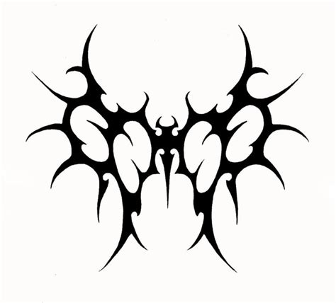 satanic tribal tattoo tribal wings stencil tattooed images