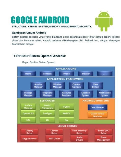 android system memory android os kernel structure memory manager