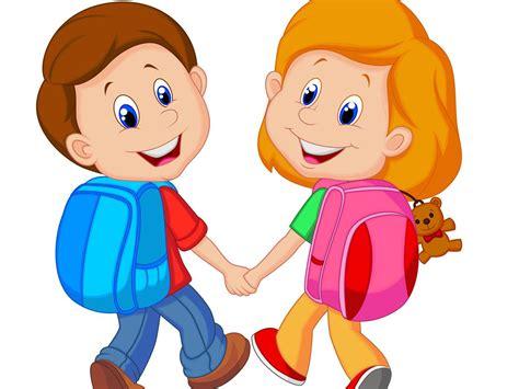 clipart bambini a scuola sempre di pi 249 i bambini vanno a scuola a piedi bimbi