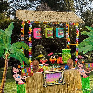 hawaiian themed outdoor decor luau ideas city luau ideas