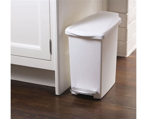 simplehuman bathroom bin simplehuman plastic slim 10l or 40l pedal waste bin on