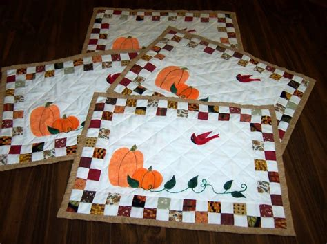Quilted Placemat Patterns by Quilted Fall Placemats Pattern Allcrafts Free Crafts Update