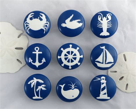 Coastal Drawer Knobs by Nautical Drawer Knob Custom Drawer Knob Decor