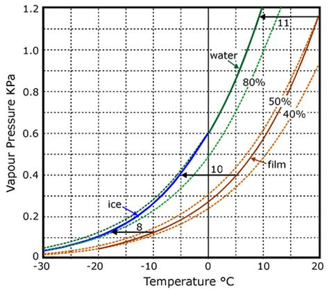 vapor pressure diagram conservation physics condensation in containers