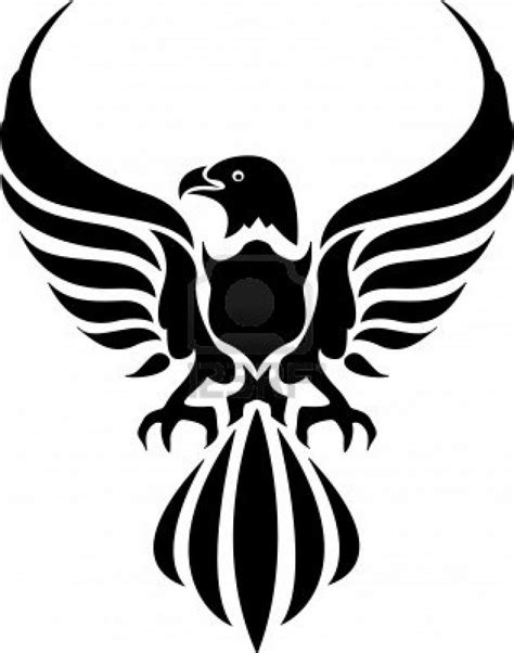 tribal eagle tattoos strong tribal eagle tattooo design busbones