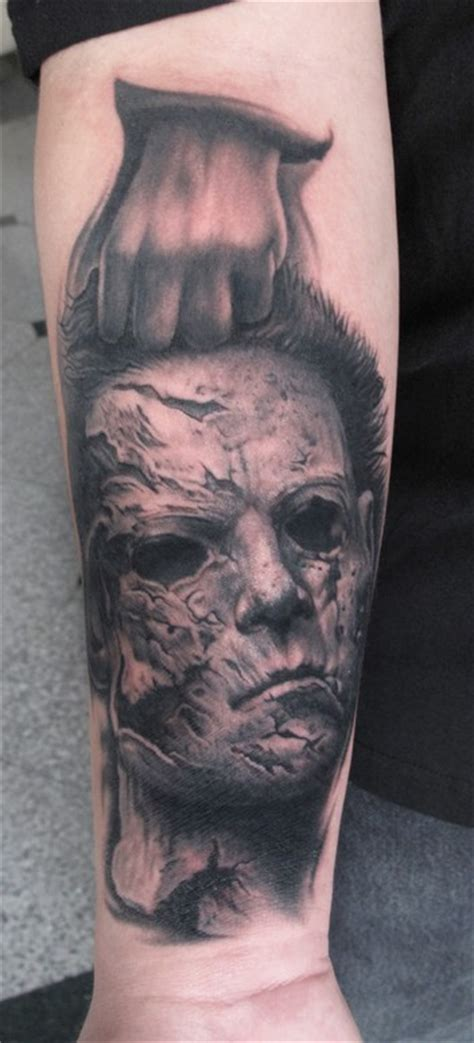 michael myers tattoo ii michael myers by bob tyrrell tattoos