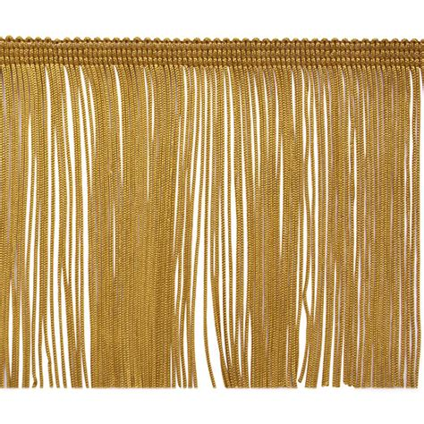 Upholstery Fringe Trim by 4 Quot Chainette Fringe Trim Gold Discount Designer Fabric