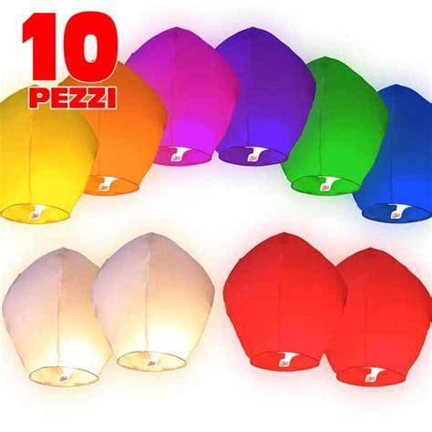mongolfiera volante 10 pezzi mongolfiera volante colorate lanterne cinesi per