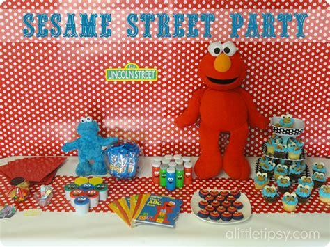 birthday themes sesame street sesame street birthday party a little tipsy
