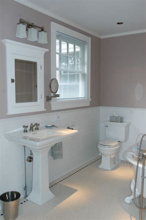 taupe colored bathrooms subway hex tiles with taupe and white color scheme feels
