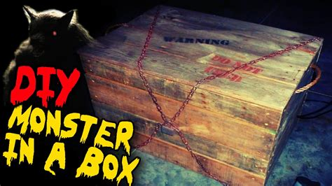 haunted house props monster in a box diy halloween haunted house prop youtube