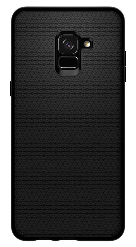 Original Spigen Liquid Air Armor Galaxy A8 2018 Matte Black galaxy a8 plus genuine spigen soft tpu liquid air armor cover for samsung