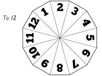 printable spinner with numbers 1 10 printable number spinners to 5 6 10 and 12 by made for