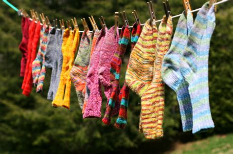 Hanging Laundry Hers Hanging Up Socks By The Toes Our Salon