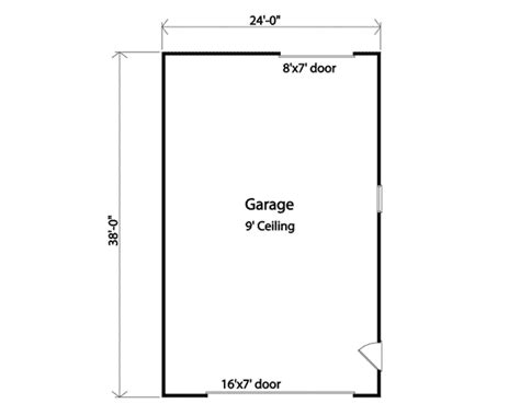 detached garage floor plans detached garage plan 22048sl cad available pdf