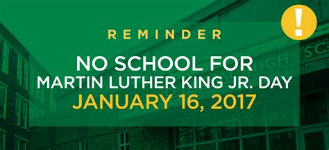 Calendar 2018 Martin Luther King Day Martin Luther King Jr Day Cathedral 7 12 High School Boston