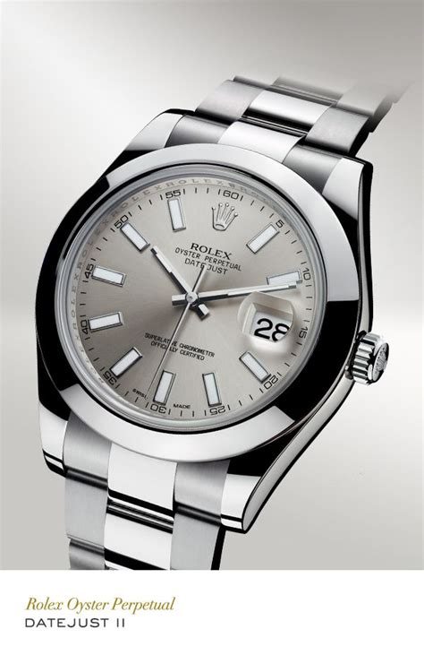 Rolex Oyster White Silver rolex datejust ii 41 mm in 904l steel with a smooth bezel
