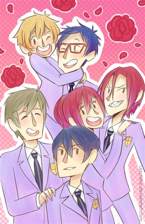 ouran highschool host club free iwatobi highschool host club by lissyfishy on deviantart