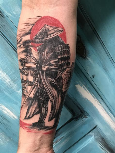 jacksonville tattoo samurai by worm at brick house tattoos in jacksonville ar