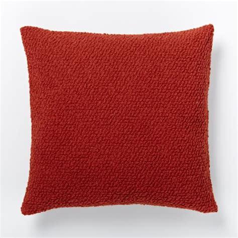 Cozy Pillows Cozy Boucle Pillow Cover Cayenne West Elm