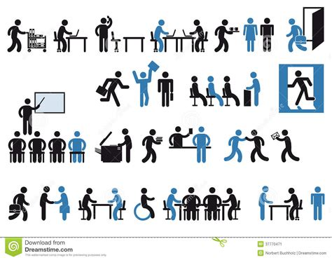 pictogramme bureau office workers pictogram stock image image of colleagues