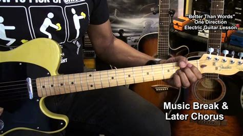 tutorial gitar one direction one direction better than words electric guitar lesson