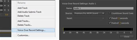 adobe premiere pro record audio record audio and create voiceovers in premiere pro