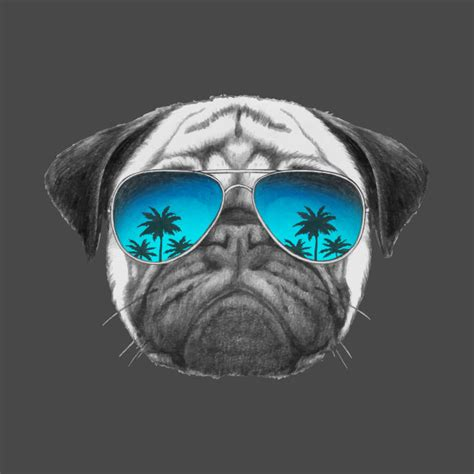 pug with sunglasses pug with sunglasses pug t shirt teepublic