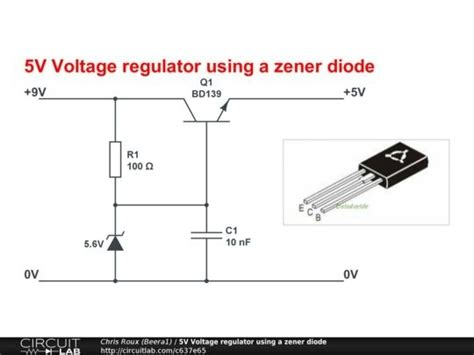 why zener diode is used as voltage regulator what should be the power rating of a series resistor and zener diode for a 7 5 v to 5v
