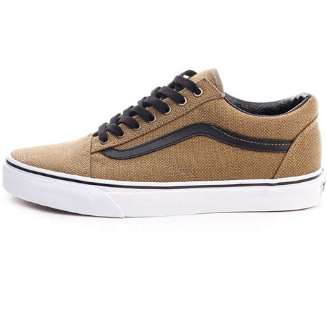 Vans Authentic Jute Walnut Black vans jute skool mens trainers in walnut