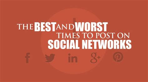 60 Day Mba Social Media Posts by The Best And Worst Times To Post On Social Media Dustn Tv