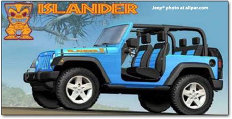 jeep islander logo jeep islander due for rerun in 2010 wrangler version to