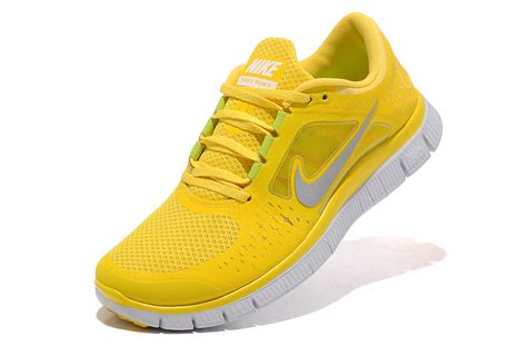 yellow nike shoes mens nike free run 3