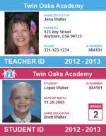 teacher id card template free infocard co