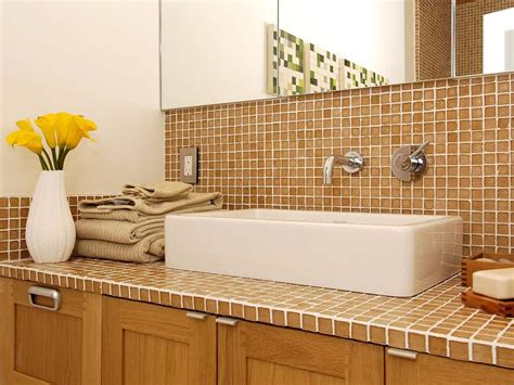 Tile Bathroom Countertops by Tile Bathroom Countertops Hgtv
