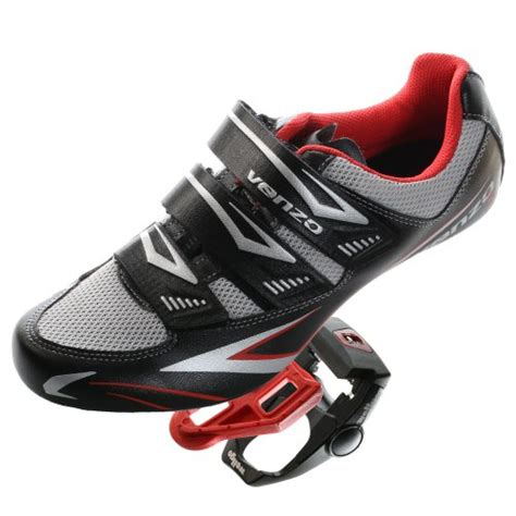 bike pedals and shoes venzo road bike for shimano spd sl look cycling bicycle